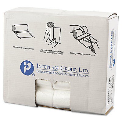 Adaptable Inteplast Group High-density Can Liner 24 X 33 16gal 6mic Clear 50/roll 20 Rolls
