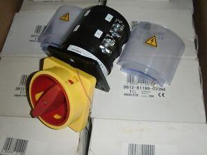 Saelzer-S612-61199-033N4-Not-Aus-Reparaturschalter-Hauptschalter-Einbau-160A-3pol