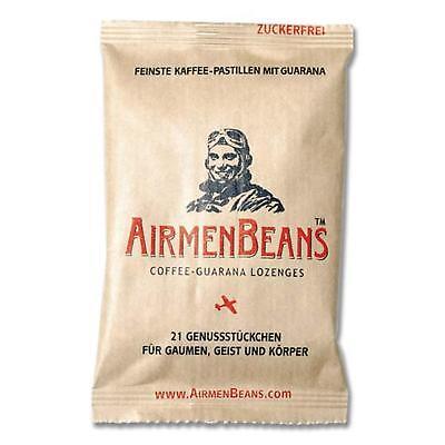 Airmenbeans Caffè Tavolette Guarana Caffeina 21 Pezzi Caramelle Airmen Beans-