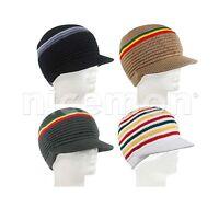 Rasta Beanie Visor Kufi Hat Cap Marley Reggae Jamaica Jah Lion Africa Bob Sm Fit