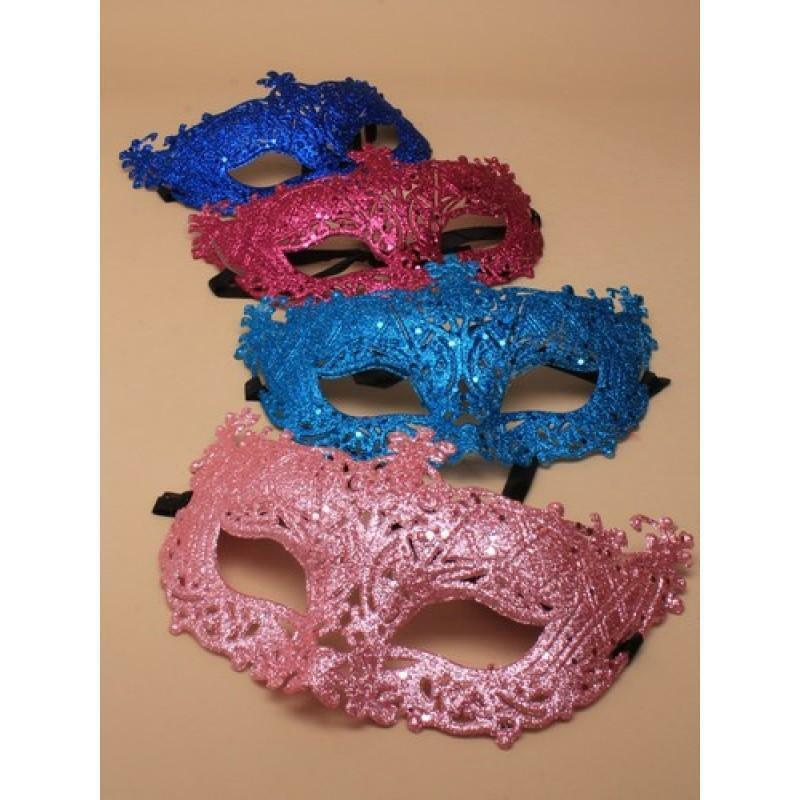 Masquerade Mask Filligree Party Glitter Ball Accessories Face Unisex Bright
