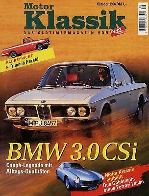 Automobilia Humorvoll Motor Klassik 10/96 1996 Mgb Fiat 770s Triumph Herald Ford Taunus Knudsen Bmw Cs NüTzlich FüR äTherisches Medulla
