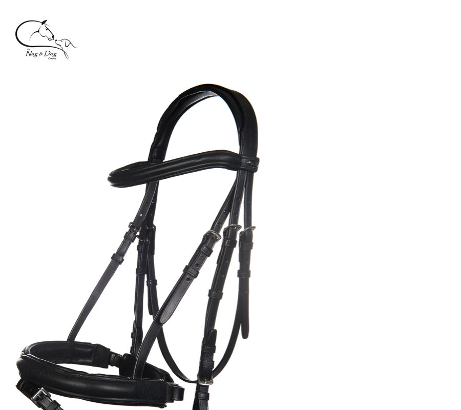 Leder Bridle with with with Reins Flash Nose FREE Extra Browband Pony Cob Full FREE P&P 2e6114