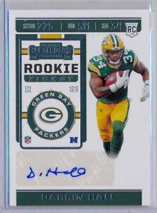 DARRIN-HALL-gt-2019-Contenders-Rookie-Ticket-AUTO-SP-Packers-RC