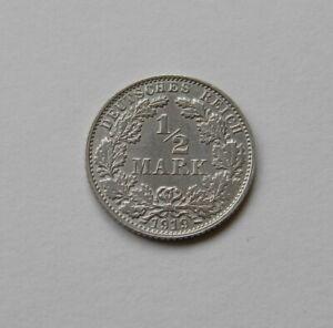 Imperio: 1/2 Marco 1919E, J. 16 , sin Circulación I