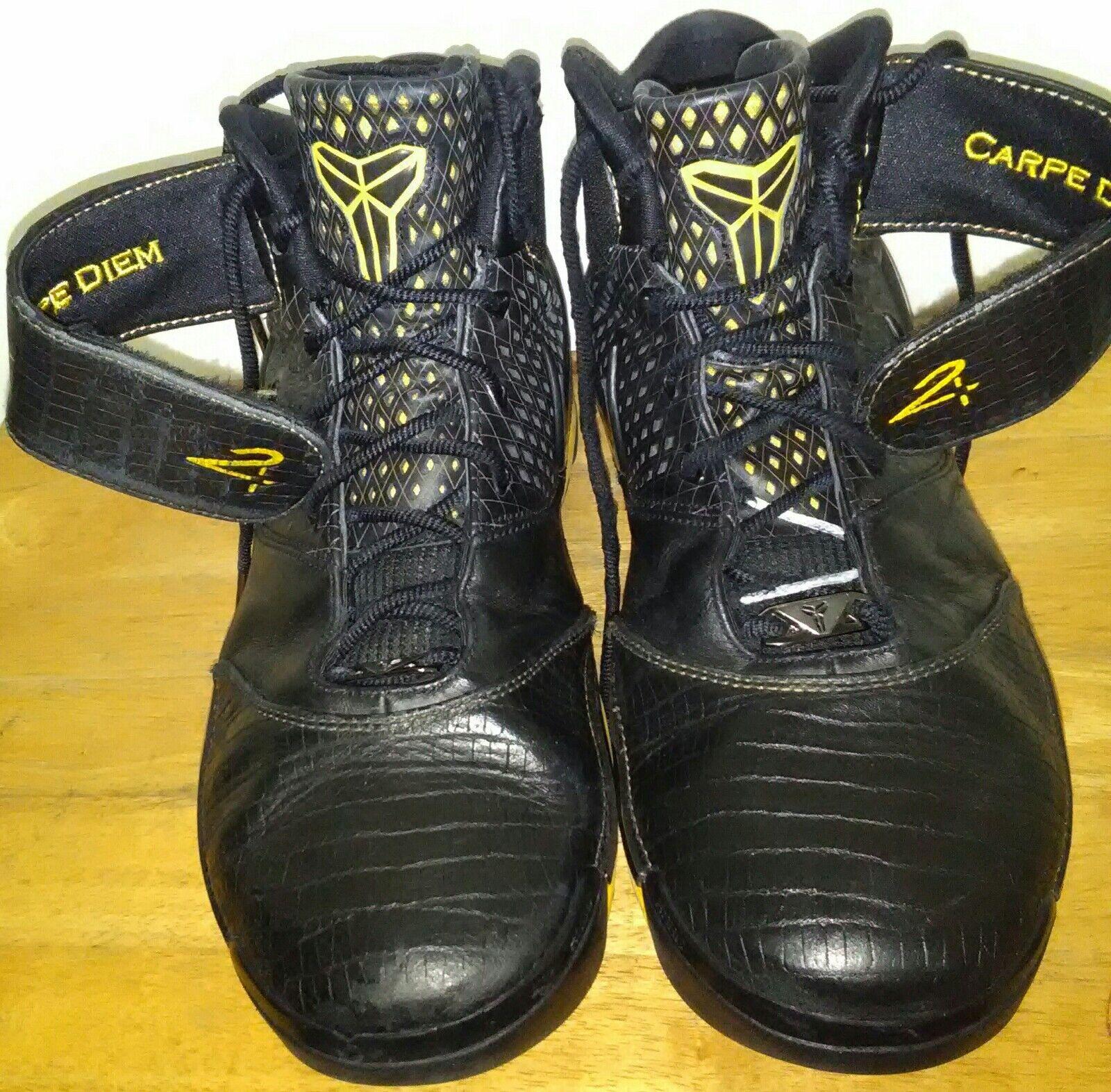 2007 Nike Zoom Kobe II 2 Carpe Diem Maize Yellow Black 316022-001 OG. Size 15
