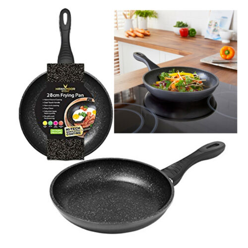HAWKMOOR STONE NON STICK FRYING PAN INDUCTION BASE COOL HANDLE KITCHEN 24CM 28CM