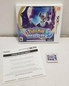 Pokemon-Moon-Nintendo-3DS-Complete-w-Inserts-TESTED-WORKS-FREE-SHIPPING-EUC