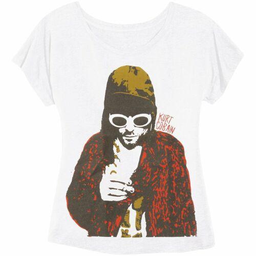 Authentic KURT COBAIN Smoking Photo Girl Juniors Dolman T-Shirt S M L XL NEW
