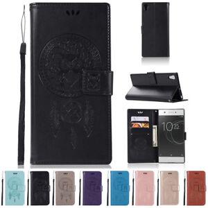 Pour-Sony-Xperia-L1-Etui-Cuir-Portefeuille-Housse-Clapet-Pochette-Carte-Pied
