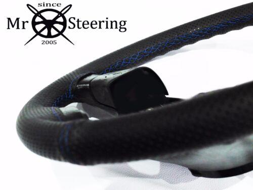 Pour Ford Fiesta 4 5 96-01 Perforé Volant en cuir couverture bleu double St