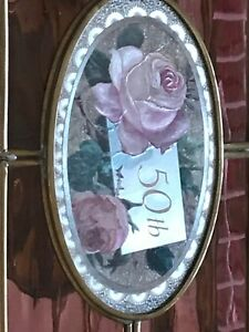 Stained-Glass-Jewelry-Box-50th-Anniversary-Brass-Mirror-Handcrafted-Mexico-New