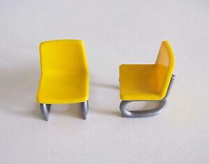 Playmobil r maison moderne lot de chaises de bureau jaune