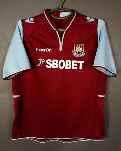 MACRON FC WEST HAM UNITED 2012/2013 SOCCER FOOTBALL SHIRT ...