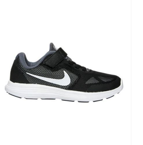 a1eeb9d133e Nike Revolution 3 (ps) 819414-001 Grey White Black Kids US Size 2.5 Euro 34  for sale online