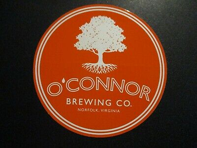 OCONNOR BREWING Virginia orn Guapo Great Dismal STICKER decal craft beer brewery