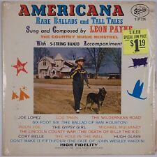LEON PAYNE: Americana Ballads Tales STARDAY USA Orig SHRINK Vinyl LP Country NM-