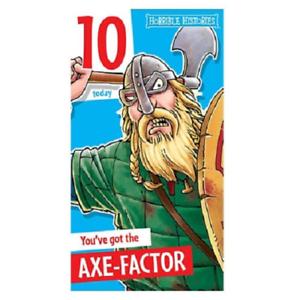 Horrible Histories Viking axe-Facteur Âge 10 CARTE D/'ANNIVERSAIRE