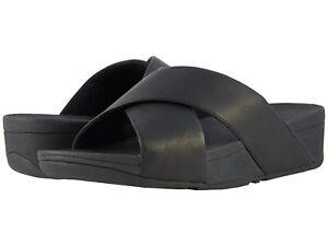 d02aec2926565 Women s Shoes Fitflop Lulu Criss Cross Slide Sandal K04-001 BLACK ...