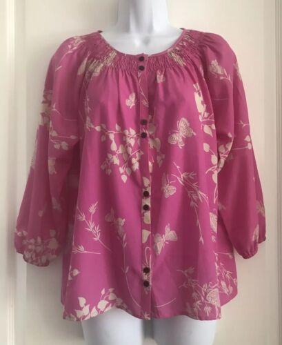 EUC Yumi Kim Designer Flirty Flowery 3/4 Sleeve To