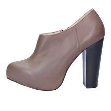 scarpe donna CAFE'NOIR 39 EU tronchetti marrone pelle AD732-D
