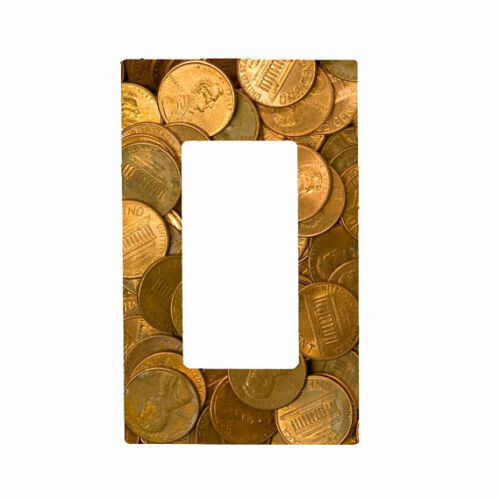 Bedroom Knob Printed Pennies Light Switch Cover Night Light Kitchen Decor