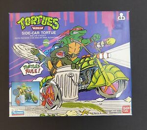 TMNT-VINTAGE-1989-TURTLES-SIDE-CAR-TORTURE-NEVER-OUT-OF-BOX-SEALED-TURTLECYCLE