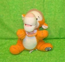 "Walt Disney World BABY TIGGER With BIB 8"" Terry Cloth Plush Stuffed Beanbag"