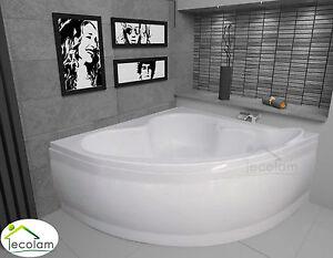 badewanne wanne eckwanne eckbadewanne 130 x 130 cm ohne mit sch rze ablauf. Black Bedroom Furniture Sets. Home Design Ideas