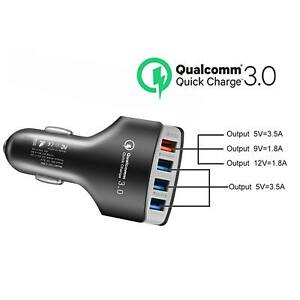4 Ports Multi Usb Car Kit Charger Qc 3 0 Power Supply Travel Adapter