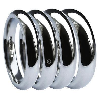 Diplomatisch 950 Palladium Wedding Rings Court Profile 2mm 3mm 4mm 5mm 6mm 8mm Uk Hm Bands Farben Sind AuffäLlig