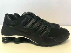 Mens-Size-10-Nike-Shox-NZ-PRM-Black-Black-Chrome-536184-001