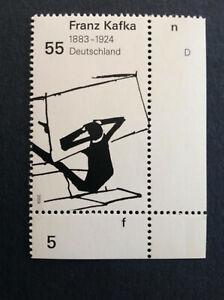 BRD-2008-1-Briefmarke-Rand-UR-125-Geburtstag-von-Franz-Kafka-MiNr-2680