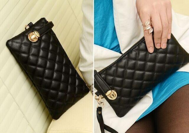 New Women Ladies Soft Leather Clutch Wallet Long PU Card Purse Handbag