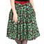 Hell Bunny Holly Berry Christmas Skirt 50/'s Retro Pin-Up Rockabilly