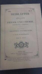 Rivista-Beiblatter-N-2-Zu-Den-Annalen-Der-Physik-Und-Chemie-1896-Lipsia-Verlag