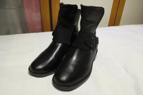 Usa Australia 5 Boots Black Leather £195 Rrp Eur Biker Cybele Uk 4 6 Ugg® 37 PWfAdwq1xP