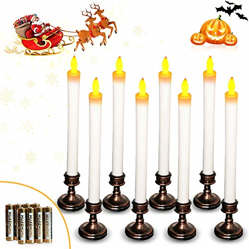 Celestial Lights Set of 4 Battery Operated Replacement Window Candle Bulbs with