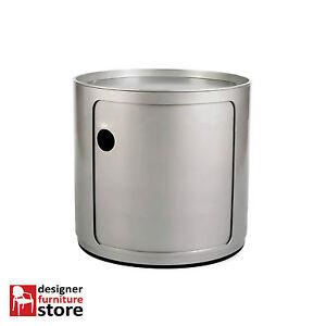 Replica-Componibili-Round-Cabinet-1-Tier-Silver
