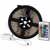 5M Waterproof SMD 5050 LED Strip Light 300 Leds RGB + 24Key IR Remote Control