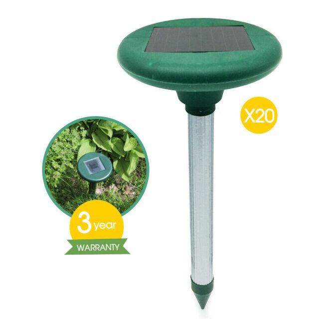 20x Multi Pulse Plus Ultrasonic Solar SNAKE REPELLER Pest Rodent Repellent
