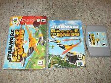 Star Wars: Episode I: Battle for Naboo (Nintendo 64 n64, 2000) Complete GREAT