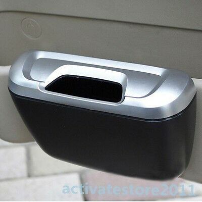 New Mini Auto Car Trash Rubbish Can Garbage Dust Case Holder Box Bin 2 Colors