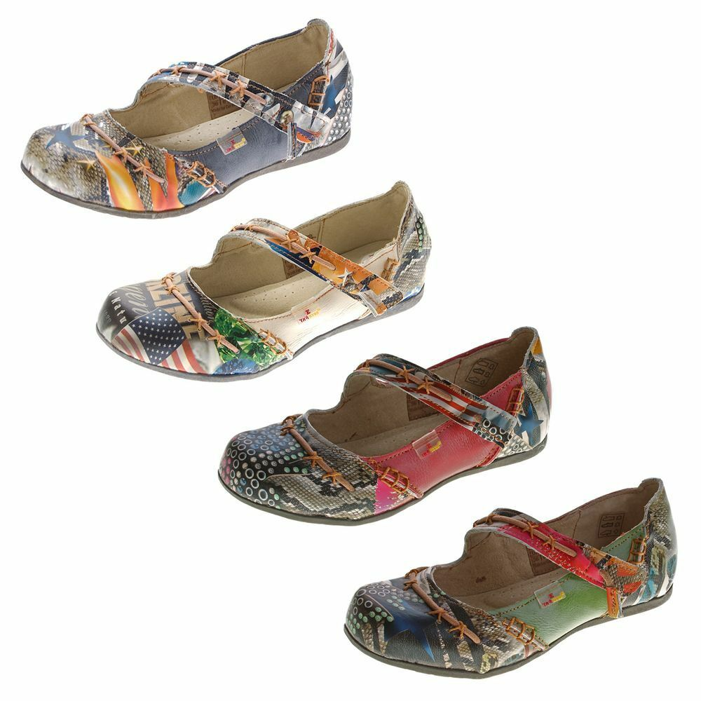 Tma Leather Women's Flats Real Comfort shoes 5085 Sandals Colourful G 36 - 42