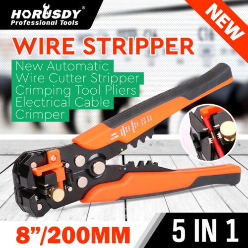 """Self Adjusting Insulation Wire Stripper Cutter Crimper Cable Stripping Tools 8/"""""""