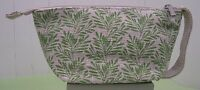 Origins Green Leaves With Silver Sparkle Makeup Cosmetic Bag