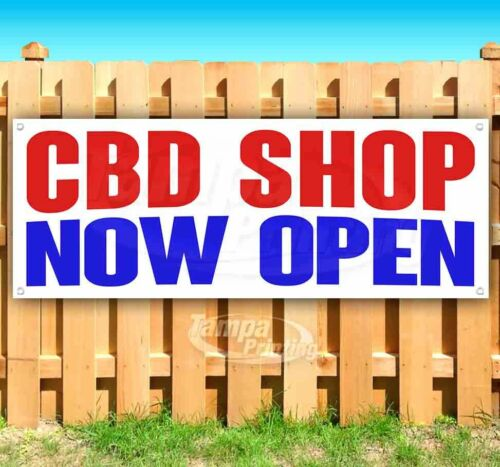 CBD SHOP NOW OPEN Advertising Vinyl Banner Flag Sign Many Sizes