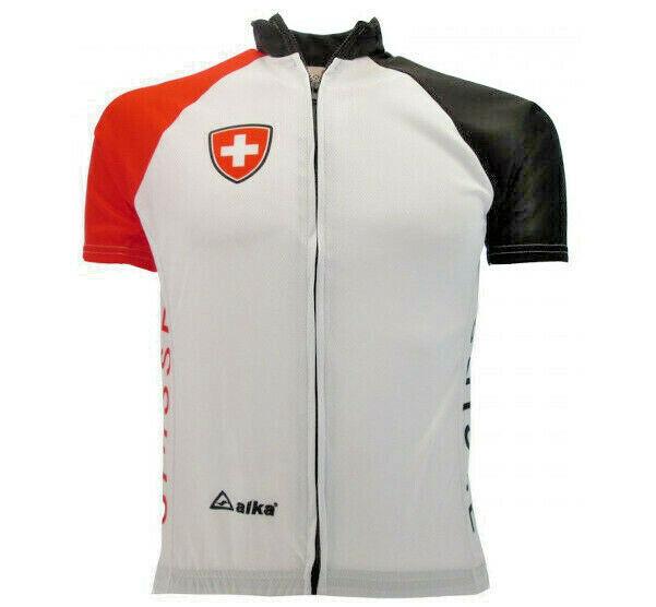 Maglia Ciclismo Svizzera Abbigliamento Bicicletta Maniche Corte