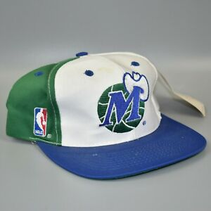 Dallas-Mavericks-NBA-Sports-Specialties-Script-Vintage-90-039-s-Snapback-Cap-Hat