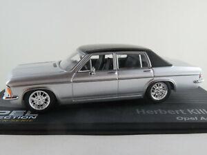 Ixo-137-Opel-almirante-B-1969-034-H-killmer-034-en-plata-negro-1-43-nuevo-PC-vitrina
